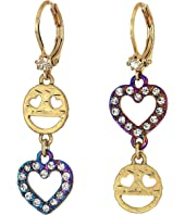 Betsey Johnson - Emoji Drop Earrings
