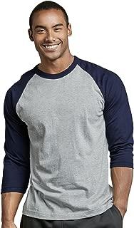 Men's 3/4 Sleeve Casual Raglan Jersey Baseball Tee Shirt
