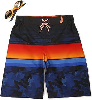 ZeroXposur Boys Grom Stripes Swim Trunk Shorts