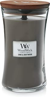 WoodWick Large Hourglass Scented Candle, Sand & Driftwood