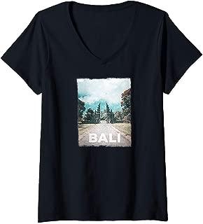 Womens Bali Travel Love I Love Bali V-Neck T-Shirt