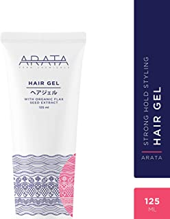 Arata Zero Chemicals Hair Gel, Restore Curls, Made with Flax Seed Extract for Men and Women, 125 ml