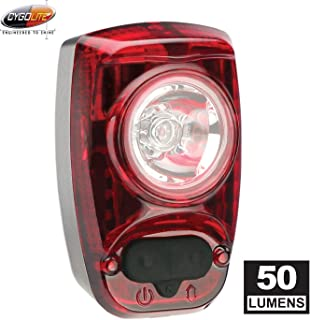 Cygolite Hotshot– 50 Lumen Bike Tail Light– 6 Night & Daytime Modes– User Tuneable Flash Speed– Compact Design– IP64 Water Resistant– Secured Hard Mount– USB Rechargeable– Great for Busy Roads