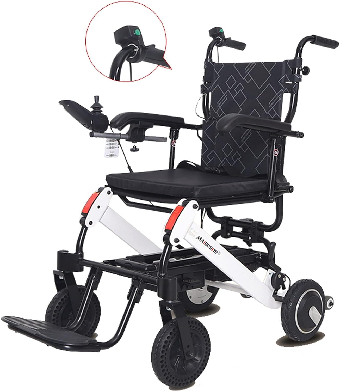 Silla de ruedas eléctrica, elevador portátil plegable y liviano para personas mayores, silla de ruedas auxiliar móvil compacta de doble motor lujosa y potente/Como se muestra / 109×55×94cm
