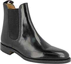 Loake Mens 290 Black Leather Boots 9.5 US