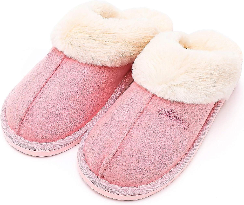 Haloyo Womens Slipper, Fluffy Slip On House Women Slippers Clog Soft Indoor Outdoor Slipper for Winter