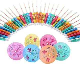 Mini Parasols en Papier Plage Lot de 144 Parapluies en Papier pour Cocktail les Boissons Couleurs Assorties F/ête les Cupcakes Id/éal pour les F/êtes les Fruits Tropicaux D/écorations
