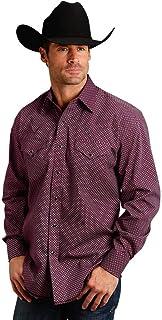 Men's Geo Print Long Sleeve Western Shirt - 11-001-0425-0647