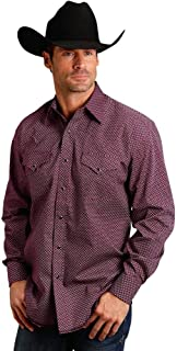 Western Shirt Mens Geo L/S Snap Red 11-001-0425-0647 RE