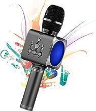 Micrófono Karaoke Bluetooth, 4 en1 Microfono Inalámbrico Karaoke Portátil, para Niños Canta Partido Musica, para el Hogar KTV, Compatible con iOS, Sistema Android y Tabletas