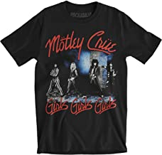 Motley Crue Girls Girls Crest Womens Plus Black V Neck T Shirt New Official Soft