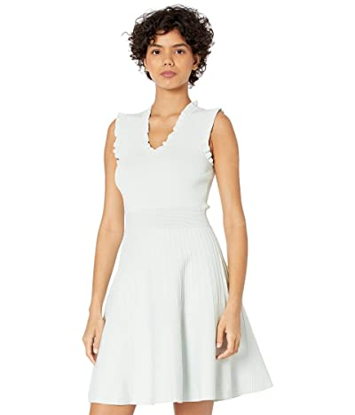 Ted Baker Riaan Knitted Skater Dress with Frill Detail Women