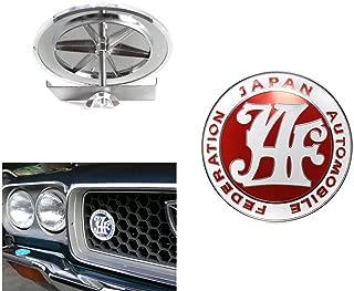 Japan Automobile Federation JDM JAF RED Emblem Badge For Toyota Front Grille