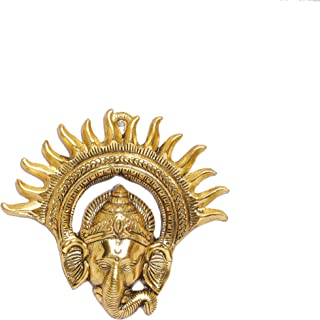 Prince Home Decor & Gifts Metal Golden Ganesha Wall Hanging Sculpture Lord Ganesh Idol Ganpati Lucky Feng Shui Wall Decor ...