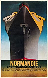 Poster Normandie C1935 Nfrench Poster Advertising The Steamship Normandie In Service Between Le Havre Southampton And New ...