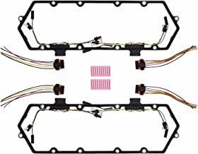 7.3L Diesel Powerstroke Valve Cover Gasket with Injector Glow Plug Harness Kit Fits 1994-1997 ford truck F250 F350