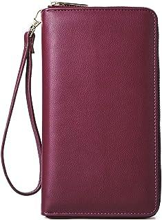 Women Wallet Large Leather Designer Zip Around Card Holder Organizer Ladies Travel Clutch Wristlet