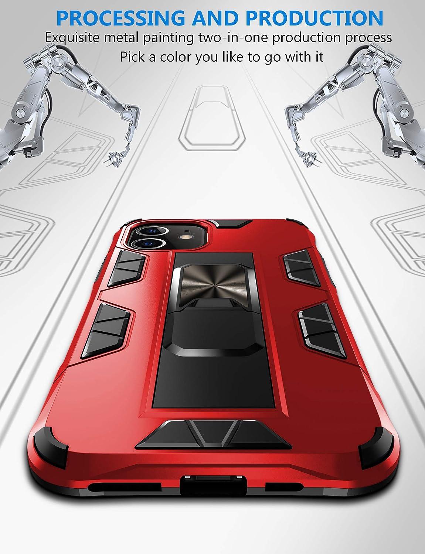 funda con soporte magn/ético para coche Carcasa para iPhone 11 funda protectora de silicona antigolpes y antiara/ñazos Jaligel trabajo con soporte magn/ético