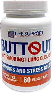 ButtOut Quit Smoking Lung Cleanse. Helps to Stop Smoking & Support Respiratory Health - Natural Lung Cleanse & Detox. Help...