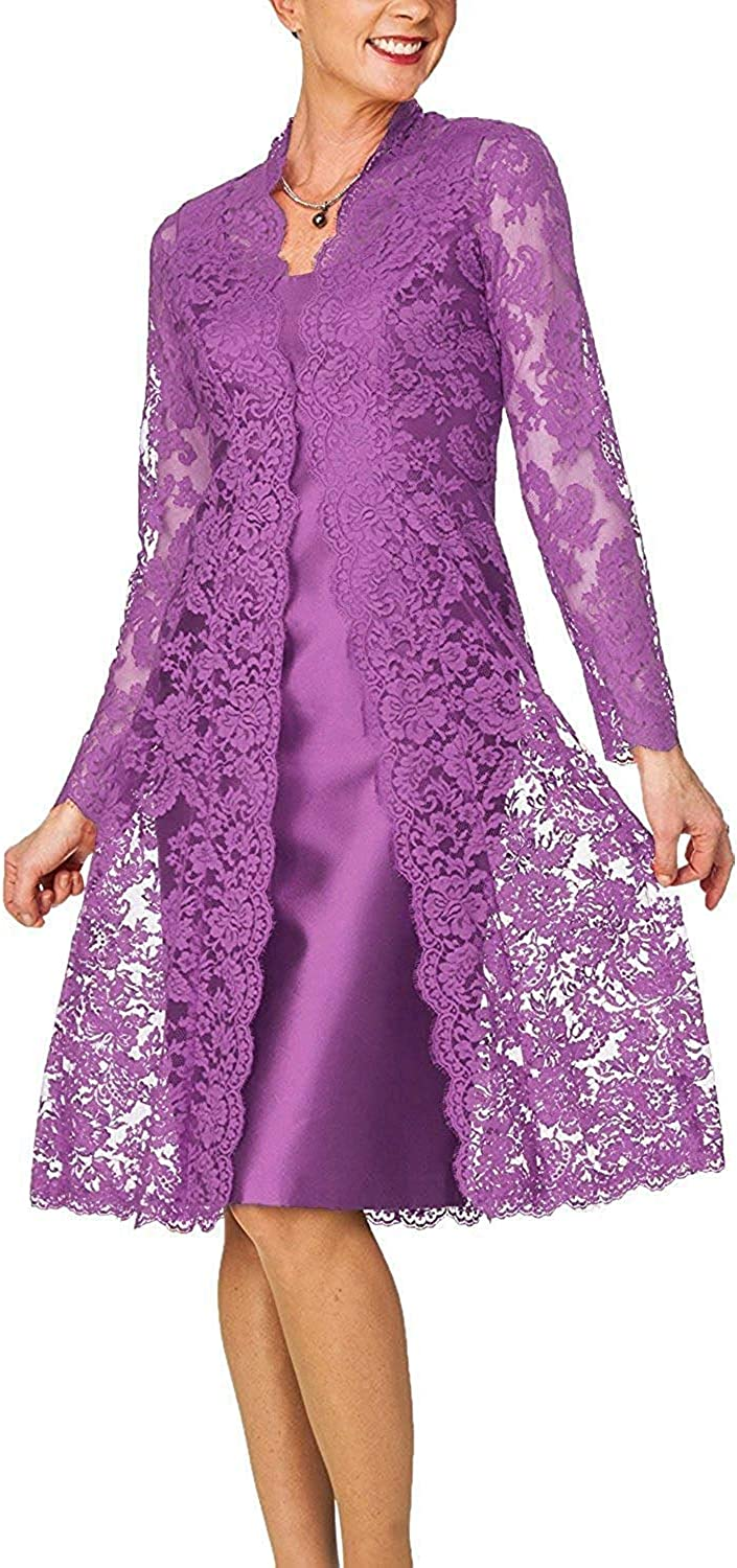 Newdeve Mother of The Bride Dresses Pieces Easy-to-use Lace 2 with Te Year-end gift Jacket
