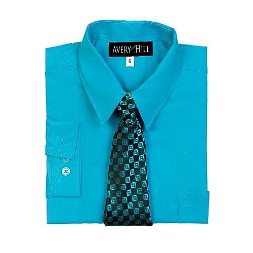 c291517635103 Avery Hill Boys Long Sleeve Dress Shirt with Windsor Tie