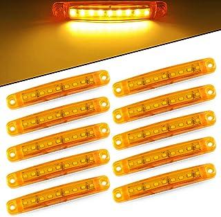 KKmoon Luci Ambra Ripetitore con Indicatore Laterale Dinamico a LED da 2 Pezzi Sostituzione per Audi A3 S3 8P A4 03-08