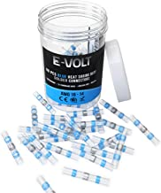 E-VOLT 80 PC Solder Connectors – Blue 2:1 Heat Shrink Adhesive Lined Tube Connectors for 16-14 Gauge Wires – Industrial Grade Waterproof Terminals for Marine and Automotive