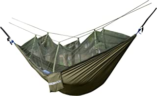 WoneNice Hammock with Mosquito Net,  Portable Lightweight Nylon Parachute Multifunctional Hammock with Net and Tree Straps for Camping,  Backpacking,  Travel,  Beach,  Yard.