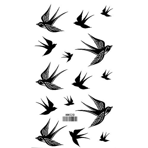fec34e7c6a862 Bird Temporary Tattoo Swallow Waterproof Tattoo Stickers