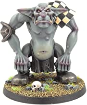 War World Gaming Gutrot Greenskins - Grunger The Troll - 28mm Scale Fantasy Football Miniature Mini Figure Goblin for Blood Bowl, Paintable Collectible, Painting