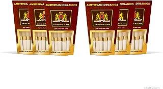 Amsterdam Organics King Size pre roll Cones 6 9 Packs of Hemp (6)