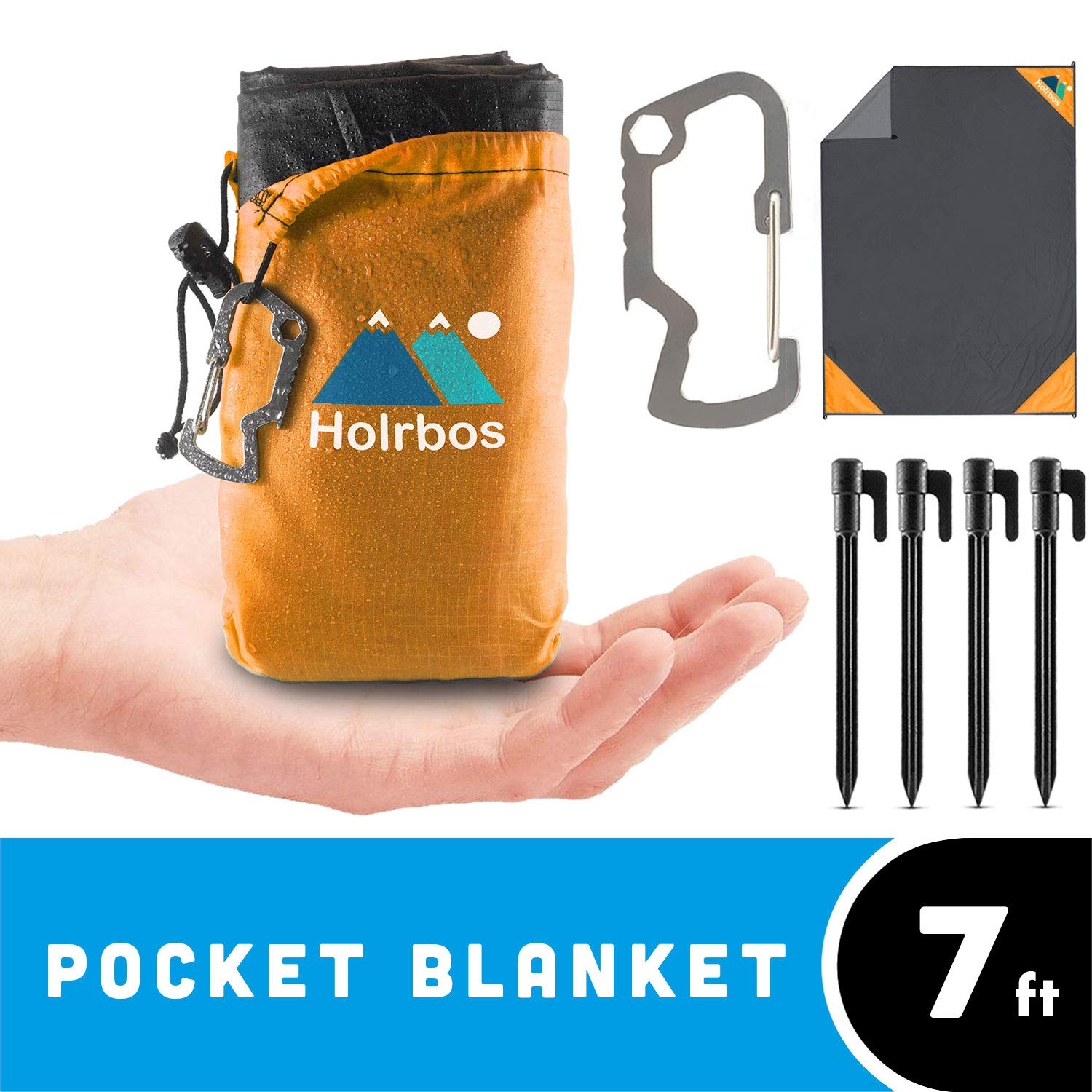 Holrbos Compact Resistant Included Carabiner