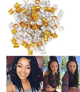 Sponsored Ad - VinBee 200 Pieces Dreadlocks Metal Hair Cuffs Hair Braiding Beads Filigree Hair Accessory