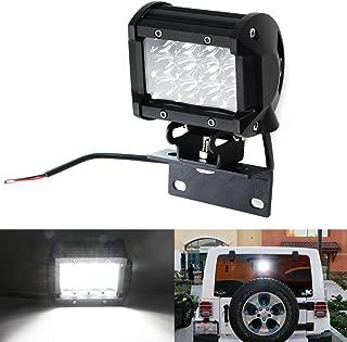 iJDMTOY Over 3rd Brakelamp 36W LED Pod Light For 2007-2017 Jeep Wrangler JK w/Brake Light Mounting Bracket, Use as Backup Reverse or Rear Driving Lamp