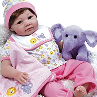 Paradise Galleries Realistic Reborn Baby Doll Sarah Safari, 8-Piece Gift Set, 21 inch Girl in GentleTouch Vinyl & Weighted Body, 8-Piece Gift Set