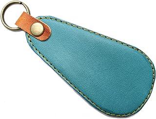 [ALUCIS] 日本製 靴べら 携帯 キーホルダー 携帯用 本革 レザー シューホーン 一流の革職人による丁寧な仕上げ サラリーマン専用