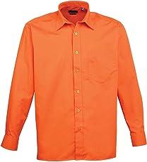 Premier PR200 Long Sleeve poplin Shirt Blank Plain