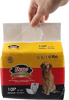 Dono Luiers voor honden, hygiënisch, absorberend, zacht en fris, geurloos, voor gebruik en verwijdering, verkrijgbaar in 4...
