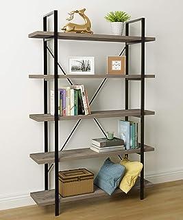 45MinST 5-Tier Vintage Industrial Style Bookcase/Metal...