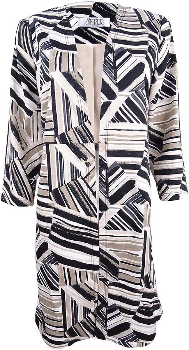 Kasper Regular dealer Women's Plus Size Abstract-Print Ottoman Jacket New life