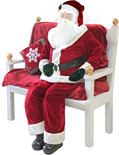 Northlight 6' Huge Life-Size Plush Standing or Sitting Santa Claus