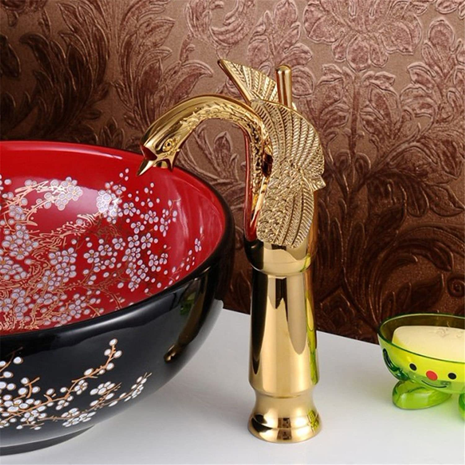 Restroom Fixtures SADASD Contemporary Bathroom Faucet Full Brass Faucet Ceramic Valve Single Hole Single Handle Cold Water With G1/2 Hose Janitorial & Sanitation Supplies