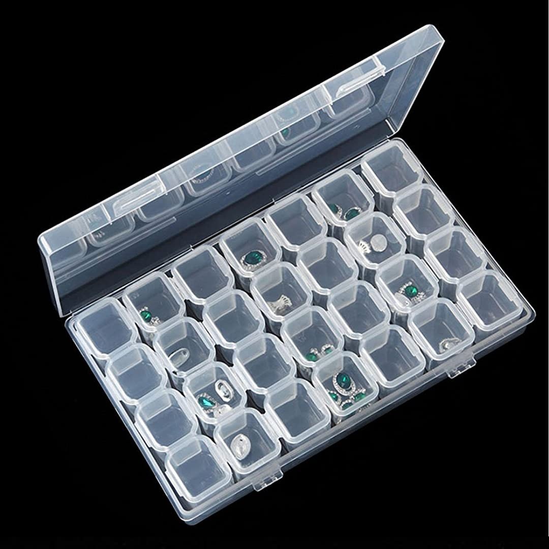 の面では予防接種やさしいアクセサリー ジュエリーボックス 半透明 28箇所 仕切り ジュエリーケース アクセサリーケース 小物入れ 指輪 ネックレス ピアス ブレスレッド 収納スッキリ 持ち運び簡単