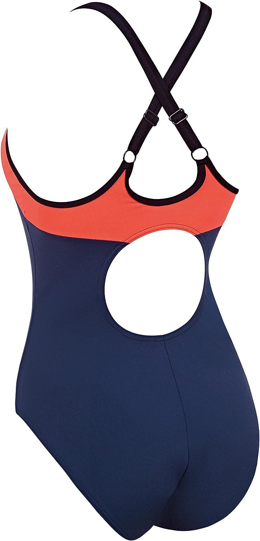 Zoggs Womens Heron Dash X Back Swimsuit