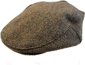 Biddy Murphy Irish Cap Brown Herringbone Tweed Cap Made in Ireland