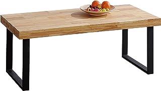 Adec - Natural, Mesa de Centro, Mesita de Comedor, Color Roble Salvaje y Negro, Medidas: 60 cm (Ancho) x 120 cm (Largo) 43,5 cm (Alto)