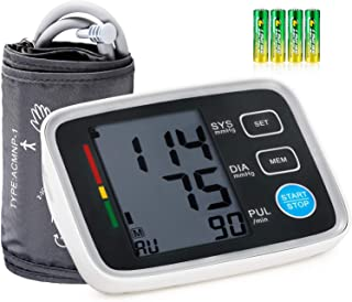 Blood Pressure Monitor Upper Arm Cuff for Home Use, Urion Automatic Digital BP Monitor Machine, 8.55 to 16.5 inches Large Cuffs, 3.55 inches Screen with Speaker 2 Users 180 Memory, 4 AA Battery