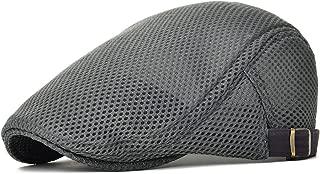 Men Breathable mesh Summer hat Newsboy Beret Ivy Cap Cabbie Flat Cap