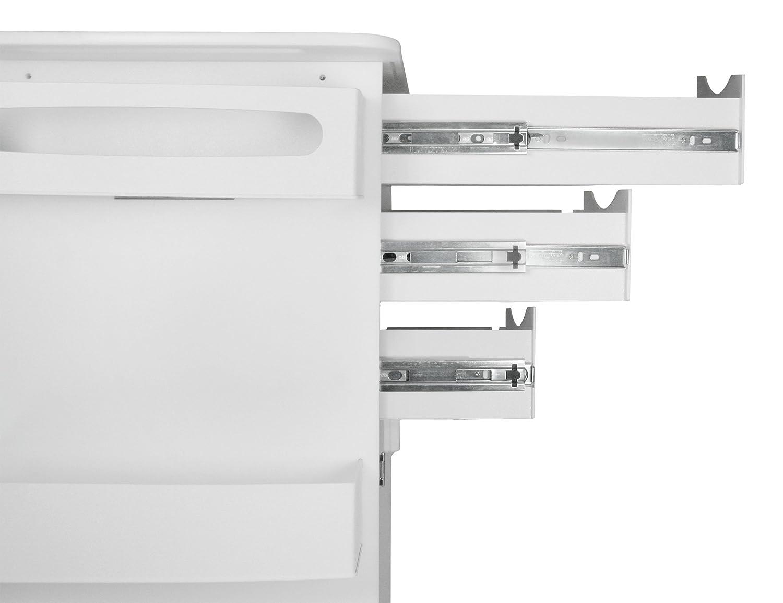 TrippNT 51420 Polyethylene//ABS Locking Core DX Multi-Tasking Medical Cart with Green PETG Hinged Door 23 Width x 35 Height x 19 Depth White