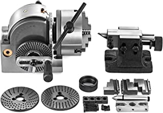 Mophorn Dividing Head BS-0 5Inch 3 Jaw Chuck Dividing Head Set Precision Semi Universal Dividing Head for Milling Machine Rotary Table Tailstock Milling Set (5 Inch Chuck)